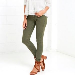 J. Crew Toothpick Skinny Jeans Olive Green